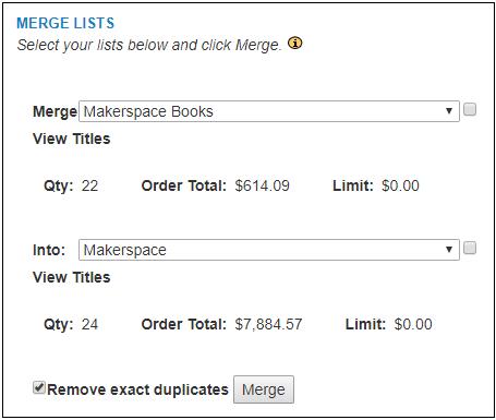 3-Merge Lists Screen