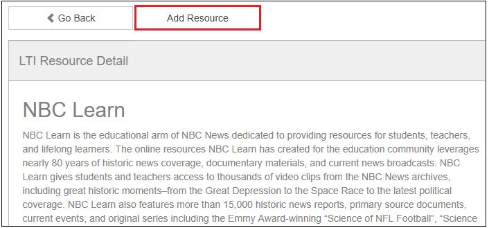 Add LTI Resource