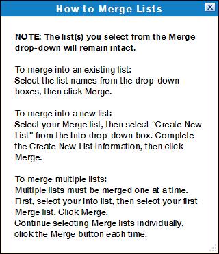 Merge Lists