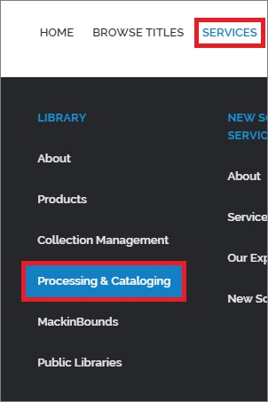 Processing and Cataloging