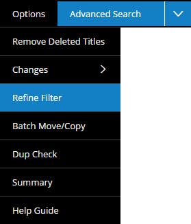 Refine Filter